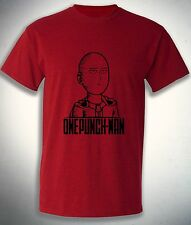Saitama one punch man t-shirt, funny face expression, best anime