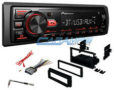 PIONEER BLUETOOTH CAR STEREO W/ DIGITAL MEDIA RADIO AUX/USB INPUT W/ INSTALL KIT