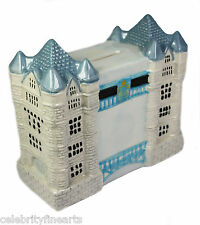 Tower Bridge Ceramic Painted Glazed London Landmark Money Box Money Bank NEW