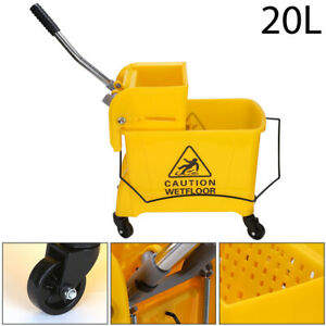 Professional 20L Kentucky Mop Bucket Wringer Cleaning Mopping Yellow