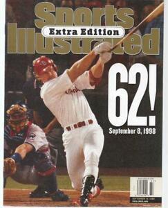 1998 Sports Illustrated Magazine Mark McGwire HR #62 Extra Edition NO LABEL