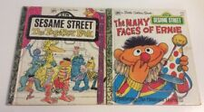 2 Little Golden Books Sesame Street The Together Book & The Many Faces Of Erine