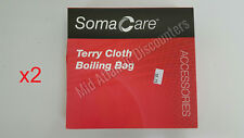 2 New Soma Care 1654589 (28377) Terry Cloth Boiling Bag