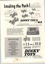 1962 PAPER AD Dinky Toy Toys Meccano TV Transmitter Van Die Cast Vanwall Racer