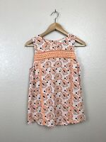 Stitch Fix Market & Spruce Womens XS Floral Lace Inset Sleeveless Blouse