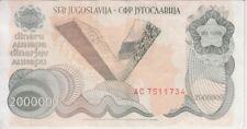 P 99 P99 1 MILLION DINARA 1989 UNC Set of 10 Notes YUGOSLAVIA
