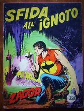 ZAGOR fumetti ZENITH scritta rossa  SFIDA ALL'IGNOTO 63