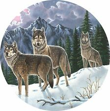 Wolf #4 Untamed Spirits Winter Spare Tire Cover Jeep Rv Camper Vw etc(all sizes)