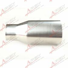 "UNIVERSAL T304 STAINLESS STEEL OVAL INLET 2.25"" MUFFLER EXHAUST 3.5"" OUTLET TIP"