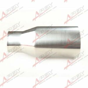 """UNIVERSAL T304 STAINLESS STEEL OVAL INLET 2.25"""" MUFFLER EXHAUST 3.5"""" OUTLET TIP"""
