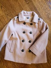 Authentic gap pink baby girls wool trench coat size 3 years