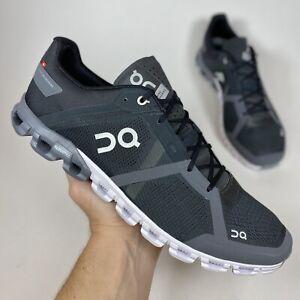On Cloudflow Swiss Engineering Black Asphalt Men's Athletic Running Shoe Size 12
