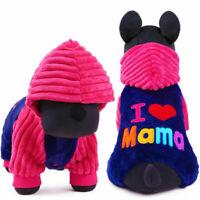 Winter Dog Clothes Jumpsuit Warm Fleece Small Pet Cat Costume Puppy Coat Pajamas
