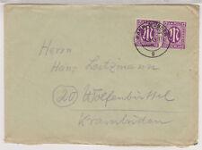 Bizone/AM-Post, 15a MeF Hann.Münden 31.10.45