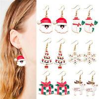 Christmas Santa Claus Earrings Pendants 2020 Happy New Year Xmas Gift Ornaments