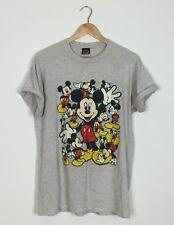 VINTAGE Retrò Brillante Mickey Mouse PAZZO Fresh Prince oversize T Shirt Top anni'90 USA