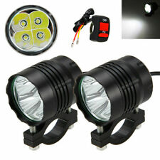 2x 40W 4000LM 4x XM-L T6 LED Motorcycle Spot Work Light Offroad Driving Fog Lamp