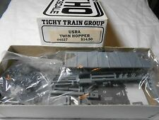 HO TRAIN TICHY TRAIN GROUP USRA TWIN HOPPER KIT UNDECORATED MINT!