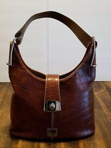 Dooney & Bourke Croco Collection Hobo Cognac NWOT Shoulder Bag