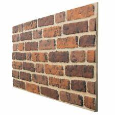 4 x Panels EPS Polystyrene 3D Wall Cladding Decopano Red Brick 120x50cm | 2.4sqm