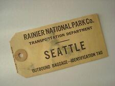 Etiquette bagage Rainier National Park Seattle. - Ca. 1930.