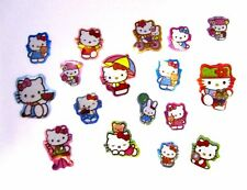 NEW CHILDRENS KIDS MINI HELLO KITTY STICKERS 100 IN A PACK PARTY BAG FILLERS