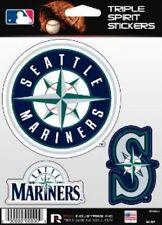Seattle Mariners Die Cut Decals 3 Pack Car Window, Laptop, Tumbler MLB, Rico