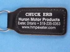 HURON MOTOR PRODUCTS CHEVROLET CADILLAC CAR DEALER KEYCHAIN KEY EXETER ONTARIO