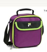 Fila Lunch Bag Purple Green Refuel Thermal Insulated Picnic Cooler Tote Carry