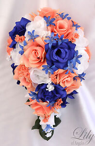 RESERVED LISTING Silk Flower Wedding Bridal Bouquet