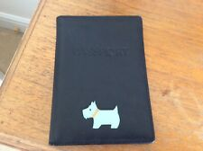 Radley passport holder black leather
