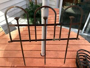 """13 Wrought Iron Architectural Victorian Garden Fence Panels =15 1/2' Long x 18""""T"""