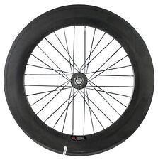 88mm Rear Clincher Carbon Single Speed Track Wheel 88mm Fixed Gear  Wheel 700C
