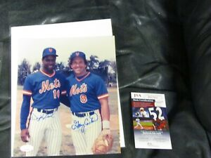 Dwight Gooden and Gary Carter Autographed Photo JSA Certified