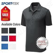 Sport-Tek Mens Cool Dry Fit Wicking Performance Golf Polo Pocket T-Shirt ST640P