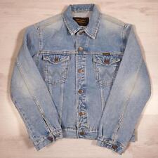 Men's WRANGLER Vintage Stonewashed Blue Denim Trucker Jacket Medium #D4304
