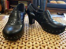 Womens Black leather Dansko Heels Size 36