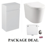 WC Unit, Round Toilet Pan, Concealed Cistern, Soft Closing Seat Package