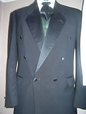 Black Tuxedo - Double Breasted 1 on 4 Notch Lapel  60007, Wool