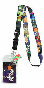Space Jam Character Lanyard ID Holder With Mask Rubber Charm And Sticker