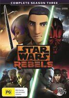 Star Wars Rebels Season Three Third 3 DVD Region 4 Brand New