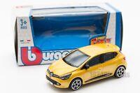 Renault Clio in Yellow, Bburago 18-30248, scale 1:43, toy gift model boy