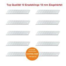 10x Abbrechklingen Ersatz Klingen 18 mm Teppichmesser Cuttermesser Abbrechmesser