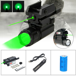 Green/Red Laser Sight Rifle Dot Scope Gun Light Combo Pistol For 20mm Rail Mount
