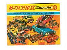 "KATALOG/CATALOGUE  ""MATCHBOX 1970 INTERNATIONAL EDITION"" , LIKE NEW/NEU/NEUF !"