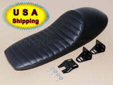 "US 24.5"" Hump Brat Seat Cafe Racer Vintage Cushion Saddle For Honda CB Yamaha SR"