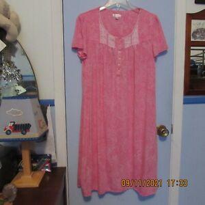 Secret Treasures Sleepwear L ( 12 - 14)  Pink Lace Nightgown
