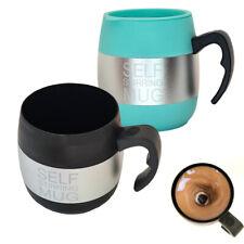 TAZZA AUTOMESCOLANTE TERMICA SELF STIRRING MUG MISCELA SCHIUMA CAFFE NERO REGALO