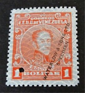 nystamps Venezuela Stamp Waterlow Color Proof MOGNH Only 100 Exist F19y2772
