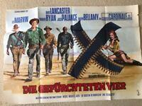 Lee Marvin, Die gefürchteten Vier - Original Filmplakat A0